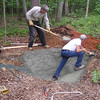 Pond Project for Bluebird Cove - July 2004 : Randal and Charlie Allred Construct a Pond for Our Backyard