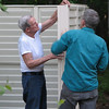 Storage Shed Project for Bluebird Cove - May 2006 : Randal and Charlie Allred  May 13-19, 2006