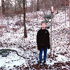 Ben Outside in Snow - Prattville, AL  1-19-92