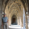 Randal Showing Portico Into Duke Chapel