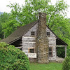 Side View of Gunter Cabin - Fontana Village Resort in Smoky Mountains, Fontana Dam, NC Built in 1875 by Jessie Cornwell Gunter.