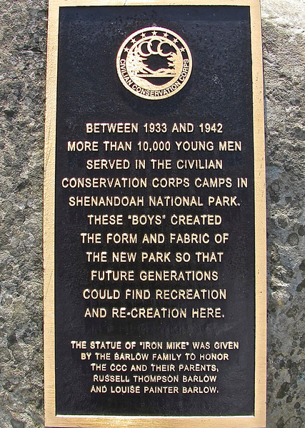 Iron Mike Signage - Byrd Visitor Center at Big Meadows - Shenandoah NP, VA