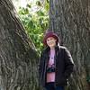 Donna at Huge Old Tree in Norfolk Botanical Garden - April 2015