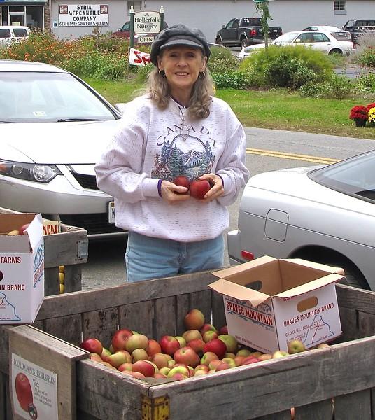 Donna Choosing Apples at Graves Mt. Apple Harvest Festival - 10/19/13