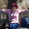 Donna Taking a Rest at Norfolk Botanical Garden - April 2015